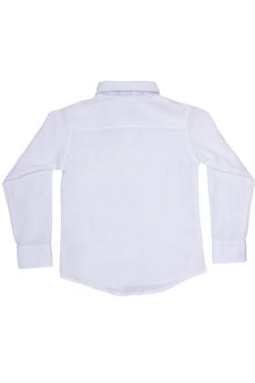 Рубашка комбинированная молочная
