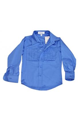 Рубашка синяя для мальчика