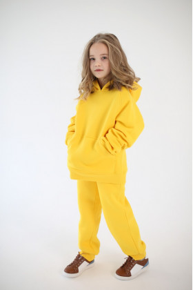 Костюм спортивный теплый желтый