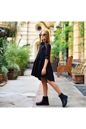 Платье асимметричное черное