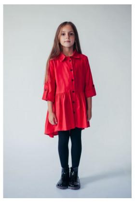 Платье асимметричное красное