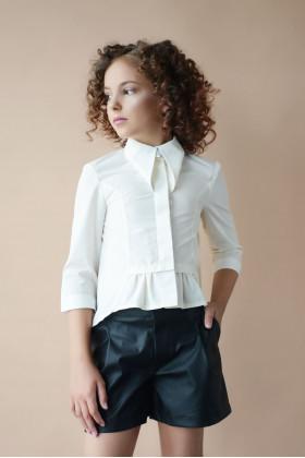 Блуза школьная молочная