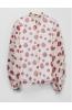 Блузка молочная с цветочным принтом
