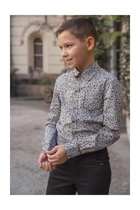 """Рубашка с серым принтом """"Пикассо"""""""