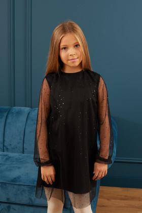 Платье чёрное «пайетка»
