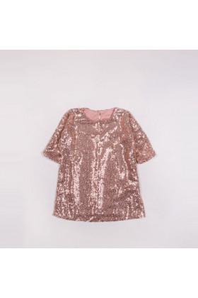 Платье пайетка пудра