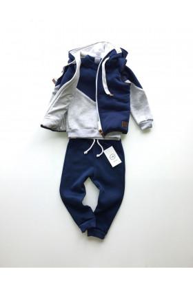 Костюм-тройка Синий/Серый