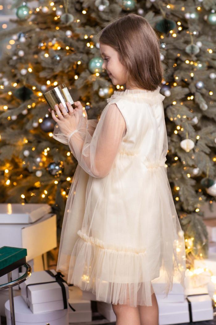 Платье цвета крем-брюле