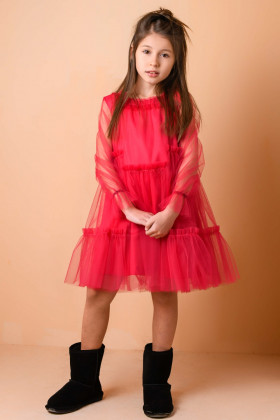 Платье малиновое