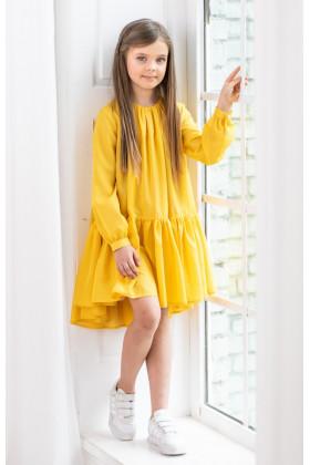 Платье шифоновое желтое